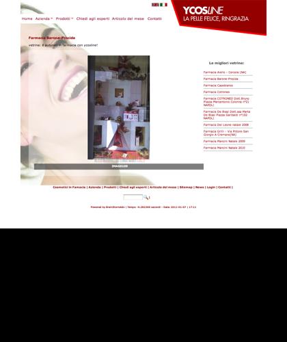 Le Migliori Vetrine Ycosline - Ycosline -  Cosmetici In Farmacia Ycosline Azienda Produttrice Cosmesi - Creme Di Bellezza E Prodotti Per La Cura Della Pelle Viso Corpo Contorno Occhi, Creme Anticellulite, Creme Idratanti, Anti-rughe, Anti-età, Anti-invec