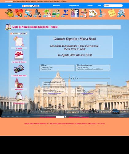 Lista Di Nozze Nozze Alessandro E Flavia - Lista Nozze - Roma - Viaggi Vacanze Mamatours - Lista Di Nozze Mamatours