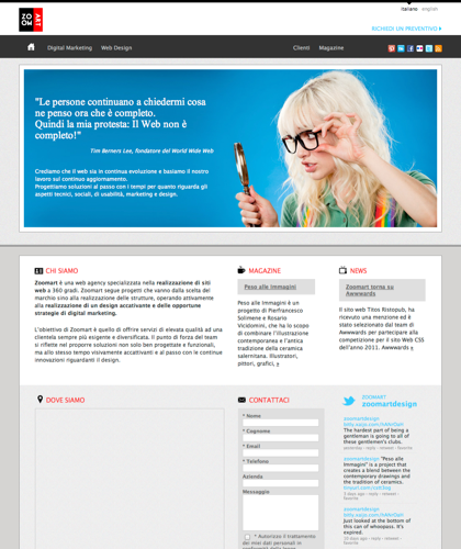 Zoomart | Web Design & Marketing Agency Napoli | Milano