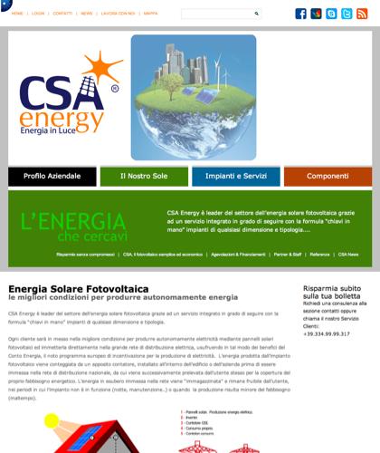 Energia Solare Fotovoltaica - Csa Fotovoltaico - Energia In Luce