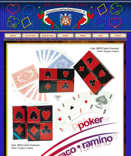 Carte Da Poker - Muoiocartedagioco - Muoio Carte Da Gioco -  Carte Plastificate - Carte Regionali - Carte Personalizzate - Giochi Di Societ� - Dadi Fichese Astucci