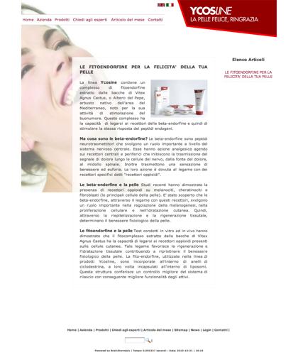 Le Fitoendorfine Per La Felicita Della Tua Pelle - Sfe - Azienda Che Produce Cosmetici E Prodotti Di Bellezza Per La Pelle. Ycosline Antirughe Fitoendorfine Idratanti Farmacia