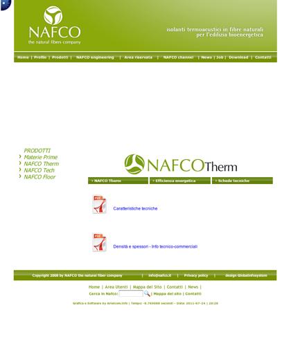 Nafco Therm - Schede Tecniche - Nafco - Soluzioni Ecocompatibili Ad Altissime Prestazioni
