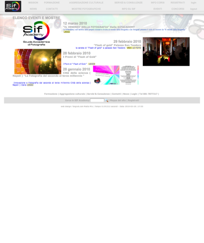 Elenco Eventi E Mostre - Sif Academy -