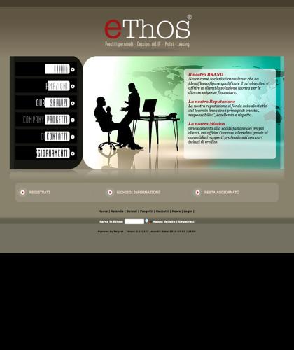 Società Finanziaria - Ethos -  Nasce Come Società Di Consulenza Che Ha Identificato Figure Qualificate Il Cui Obiettivo E' Offrire Ai Clienti La Soluzione Idonea Per Le Diverse Esigenze Finanziare.
