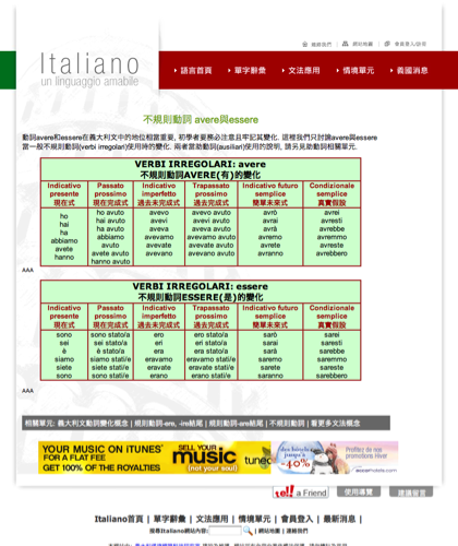 不規則動詞avere與esserre - Italiano -