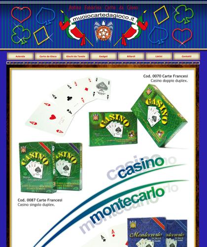 Carte Da Gioco Casino Montecarlo - Muoiocartedagioco - Muoio Carte Da Gioco -  Carte Plastificate - Carte Regionali - Carte Personalizzate - Giochi Di Società - Dadi Fichese Astucci