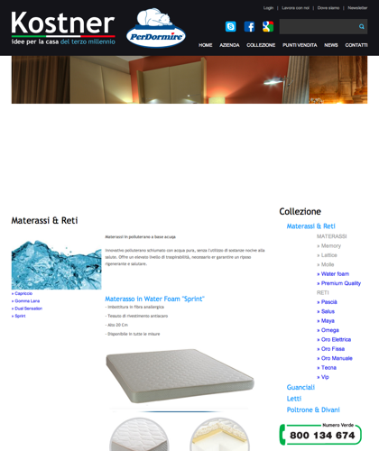 Materassi & Reti - Water Foam Sprint - Kostner Italia - Idee Per La Casa Del Terzo Millennio.