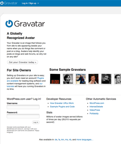 Gravatar - Globally Recognized Avatars