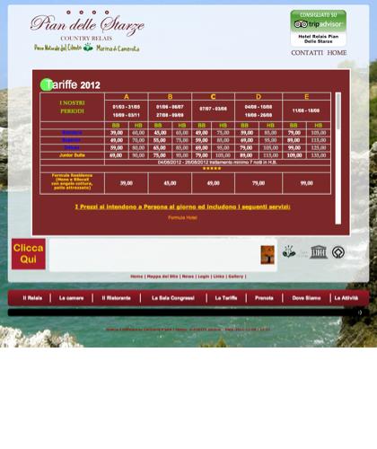 Tariffe Copia - Hotel Relais Pian Delle Starze - 2011