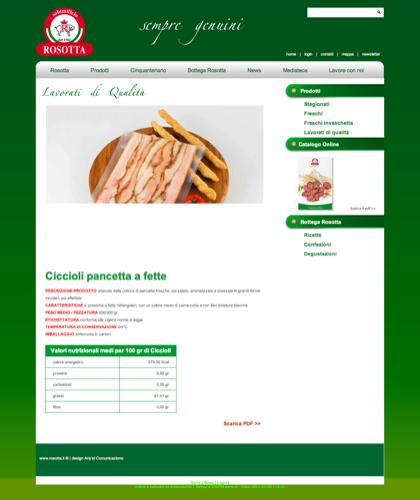 Lavorati Di Qualita - Ciccioli Pancetta A Fette - Rosotta - Rosotta Salumificio Dal 1962