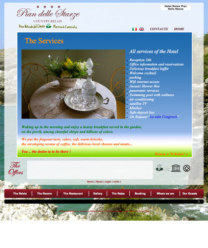 Servizi - Hotel Relais Pian Delle Starze - Confort Country Relais