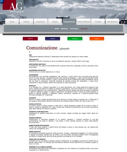 A&g Advisory Group Srl  - Glossario - A & G - A&g Advisory Group, Azienda, Servizi, Consulenza, Comunicazione, Cultura & Società, Privati, Imprese, Sicurezza, Energia