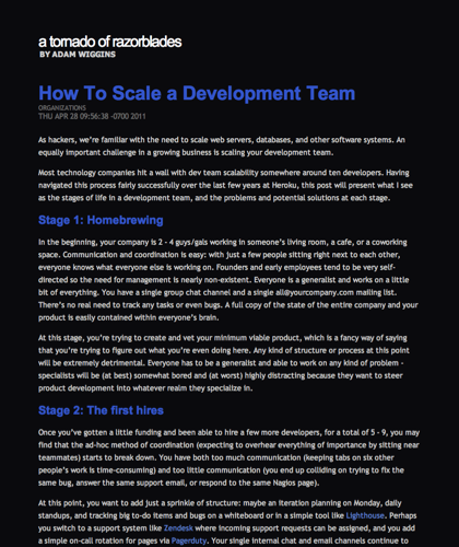 How To Scale A Development Team