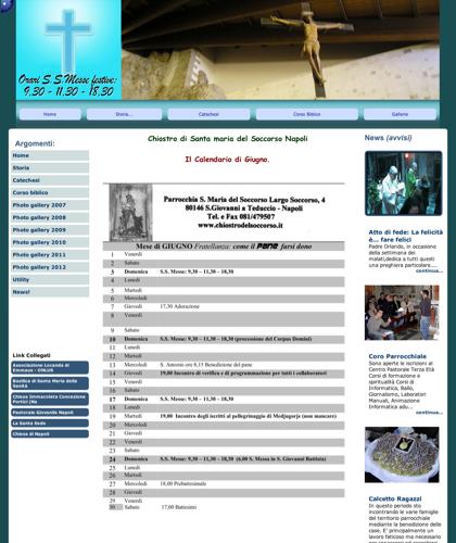 Chiostro Di Santa Maria Del Soccorso Napoli  - Chiostro S.m.soccorso - Parrocchia Santa Maria Del Soccorso - Largo Del Soccorso, 4 (san Giovanni A Teduccio) - 80146 Napoli - Tel/fax: 081 479507- E-mail: Parroco@chiostrodelsoccorso.it