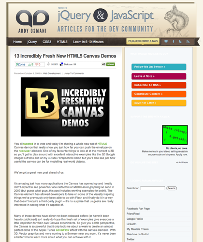 13 Incredibly Fresh New Html5 Canvas Demos