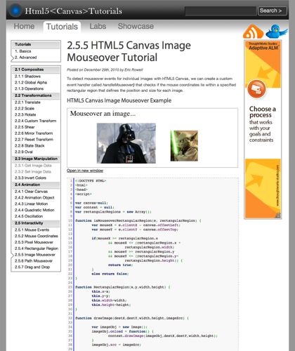 Html5 Canvas Image Mouseover Tutorial