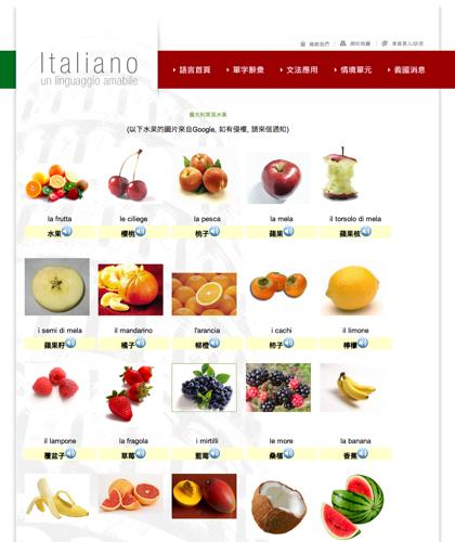 義大利常見水果 La Frutta - Italiano -