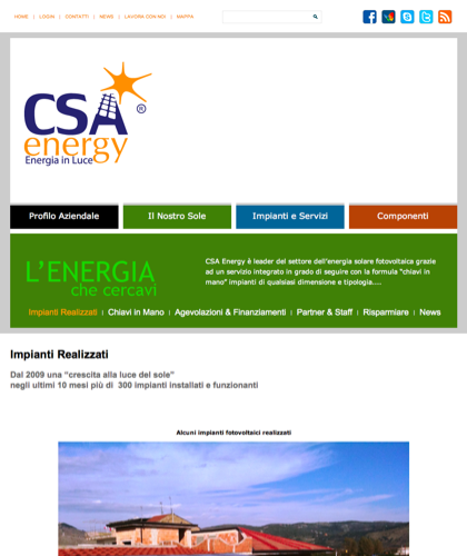 Referenze Tablet - Csa Fotovoltaico - Energia In Luce