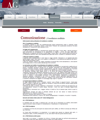 A&g Advisory Group Srl  - Il Mediatore Creditizio - A & G - A&g Advisory Group, Azienda, Servizi, Consulenza, Comunicazione, Cultura & Società, Privati, Imprese, Sicurezza, Energia