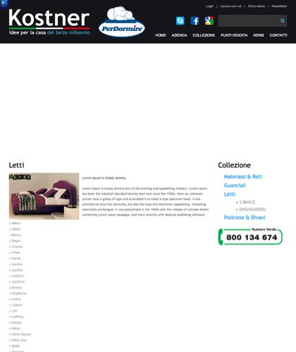 Letti - V&nice - Kostner Italia - Idee Per La Casa Del Terzo Millennio.