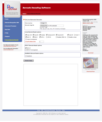 Barcode Decoding Software - Online Barcode Decoder