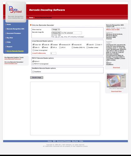 Barcode Decoding Software - Online Barcode Decoder