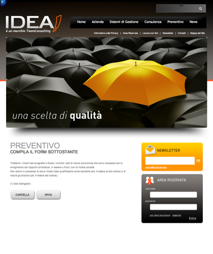 Preventivo - Idea Cert - è Un Marchio Teamconsulting