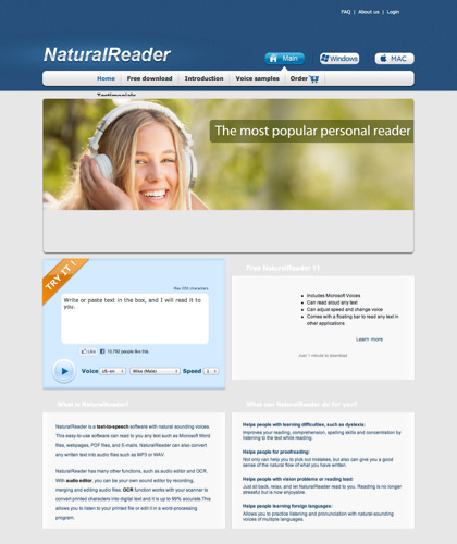 Free Text To Speech Software With Naturally Sounding Voices -- Free Naturalreader