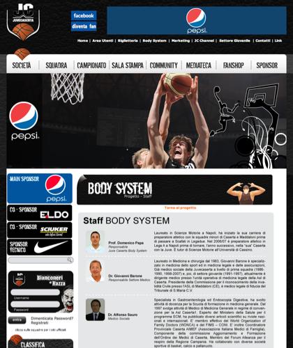 Body System Staff - Juvecaserta -  Basket Juventus Caserta Pallacanestro. Associazione Sportiva, Campionato Italiano Basket. International Championship Basket Ball.