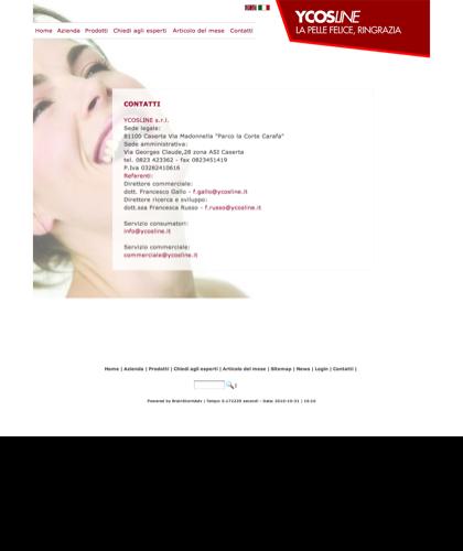 Contatti Ycosline - Sfe - Azienda Che Produce Cosmetici E Prodotti Di Bellezza Per La Pelle. Ycosline Antirughe Fitoendorfine Idratanti Farmacia