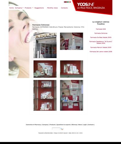 Ycosline Prodotti Viso - Farmacia Cotroneo - Ycosline - Azienda Che Produce Cosmetici E Prodotti Di Bellezza Per La Pelle. Ycosline Antirughe Fitoendorfine Idratanti Farmacia