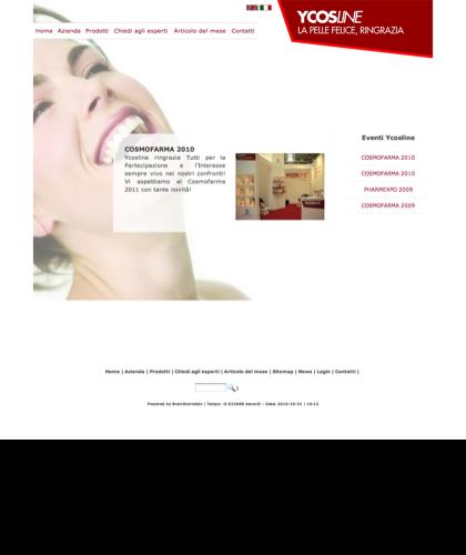Cosmofarma 2010 - Sfe - Azienda Che Produce Cosmetici E Prodotti Di Bellezza Per La Pelle. Ycosline Antirughe Fitoendorfine Idratanti Farmacia