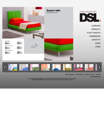 Square - Divani Salotti Letti - Dsl - Quality Has A Name - Dsl Italia - Square Letto Sfoderabilità: Parziale