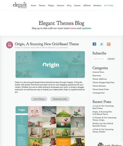 Origin, A Stunning New Grid-based Theme | Elegant Themes Blog