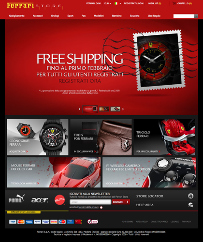 Ferrari Store - Shopping Online Ufficiale | Negozio Vendita Prodotti E Articoli Ferrari
