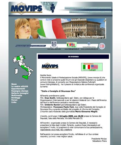 Movimento Ideale Di Partecipazione Sociale - Movips - Forum Ove Gli Associati Dissertano Su Questioni Di Comune Interesse,