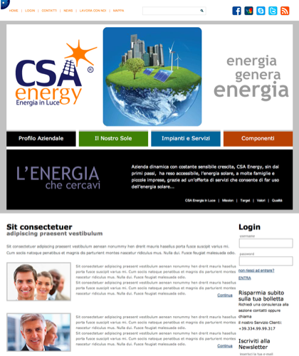 Csa Energy - Csa Fotovoltaico - Energia In Luce
