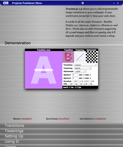 Transm.js (javascript Programmable Image Transitions)