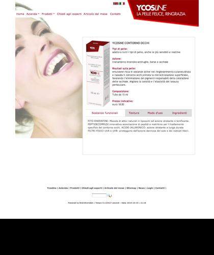 Ycosline Prodotti Viso Ycosine Contorno Occhi - Ycosline - Azienda Che Produce Cosmetici E Prodotti Di Bellezza Per La Pelle. Ycosline Antirughe Fitoendorfine Idratanti Farmacia