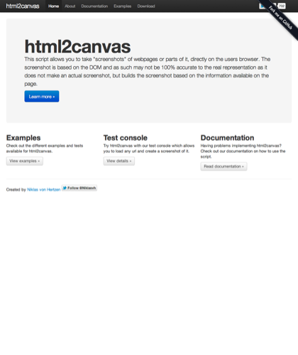 Home - Html2canvas - Screenshots With Javascript