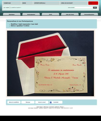 Personalizzazione:93928 - Italy Paper - Modifica I Testi Inserendo I Tuoi Dati: