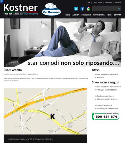 Punti Vendita - Kostner Italia - Idee Per La Casa Del Terzo Millennio.