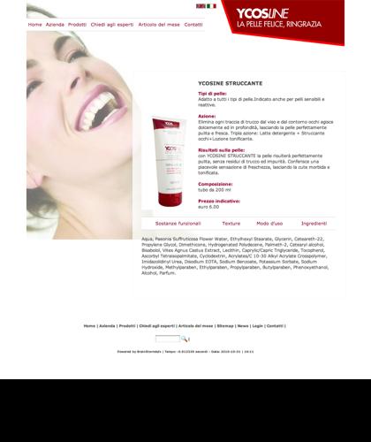 Ycosline Prodotti Viso Ycosine Struccante - Sfe - Azienda Che Produce Cosmetici E Prodotti Di Bellezza Per La Pelle. Ycosline Antirughe Fitoendorfine Idratanti Farmacia
