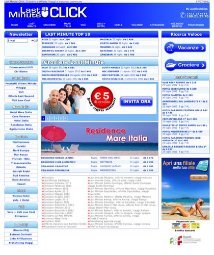 Last Minute Click, Crociere E Offerte Viaggi E Vacanze Lastminute