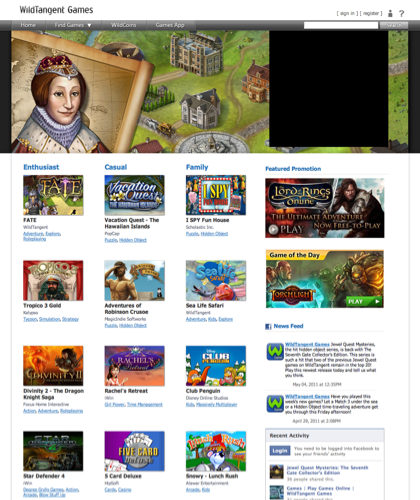 Games | Play Games Online | Wildtangent Games