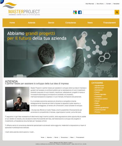 Azienda - Master Project - Consulenza E Servizi Integrati Per La Finanza Agevolata