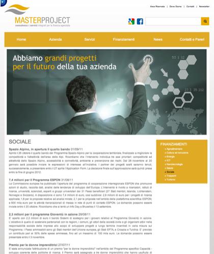 Sociale - Master Project - Consulenza E Servizi Integrati Per La Finanza Agevolata