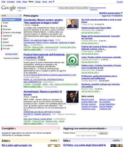 Copertura Giornalistica Completa E Aggiornata Ottenuta Combinando Fonti Di Notizie In Tutto Il Mondo Attraverso Google News.|