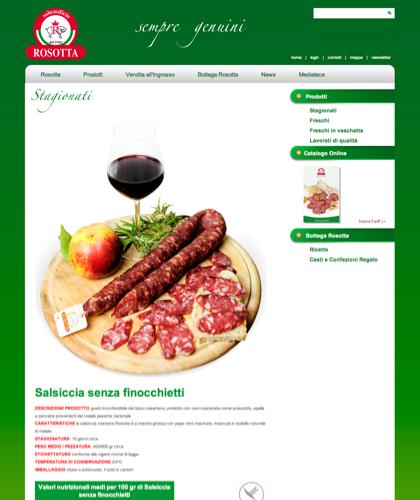 Stagionati - Salsiccia Senza Finocchietti - Rosotta - Rosotta Salumificio Dal 1962